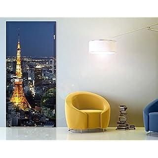 Apalis Tür Foto Wand Wandbild Tokyo Tower, Größe: XL-118,5x 221cm; Größe: 0cm x 0cm