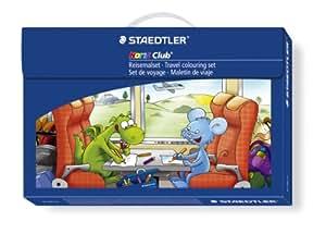 Staedtler 61 TCP L1 Set de Voyage Pour Enfant Comprenant : Crayons de Couleur + Crayon Graphite + Feutres de Coloriage + Craies Gel + Gomme + Taille-Crayon et Cahier de Coloriage