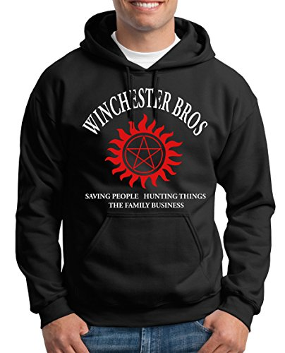 TLM Winchester Bros - The Family Business Kapuzenpullover Herren XXL (Supernatural Kostüm Castiel)