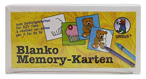 ko-Memo, 60 Karten, unbedruckt, weiß (Karte Puzzle)