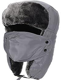 Aidonger Damen Herren Unisex Pinguin Pelzimitat Fliegermütze Ohrenschützer Verstellbar Mask, Wasserdicht und windundurchlässig