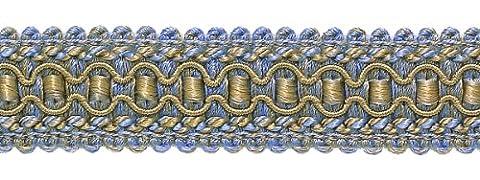 Bleu Lavande, Taupe 2,5cm Imperial II Gimp Tresse Style #