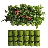 Sac A Plantes Stéréo-Mural Sac Jardinière Pot A Suspendre En Feutre Epais Sac De Plantation Extérieur /Intérieur Pour Fleurs, Légumes (Sac1)