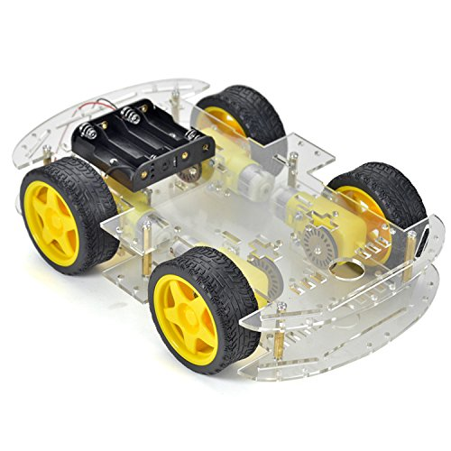 Crazepony-UK Automatische Roboter Inteligente Voiture Chasis Kit 4 Ruote con Par de Codeur Velocità Arduino
