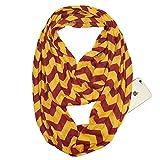 YYXXX Schal,Schal Pocket Schal Unsichtbarer Reißverschluss Schlanker Minimalist Travel Portable Warm Schal, Farbe 4,180 * 50 cm
