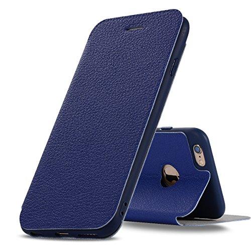 DBIT iphone 6 Plus / iphone 6s Plus Coque - Cuir Microfibre PU Leather Flip Wallet Etui - TPU Cover Protection Shell Housse Case pour iphone 6 Plus / iphone 6s Plus,noir Bleu