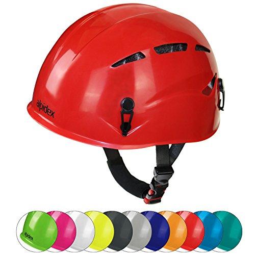Alpidex casco universale per arrampicata e alpinismo argali via ferrata in molti colori diversi moderni, colore:ruby red