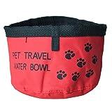 TOOGOO(R) Rosso alimentatore portatile Bevitore ciotola pieghevole per animale domestico Cane