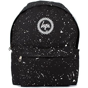 01ba4c655 Hype Backpack Rucksack Shoulder Bag - Black with White Speckle - for Boys  and Girls, Women and Men - Black White Speckle