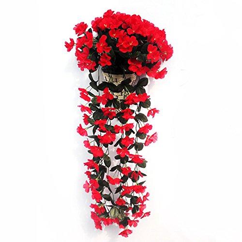 Fiori artificiali su vaso con pianta rampicante orchidea for Piante rampicanti finte