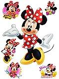 Unbekannt 6 TLG. Set _ Wandtattoo / Sticker -  Minnie Mouse  - Wandsticker + Fenstersticker - Aufkleber für Kinderzimmer - Maus Playhouse / Mädchen - Kinder - Wandauf..