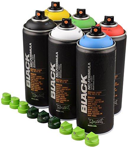 montana-black-basic-colours-spray-paint-cans-set-6-x-400ml-cans-9-nozzles