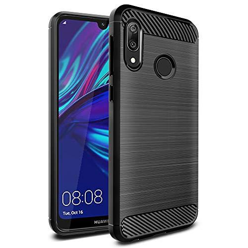 Ferilinso Hülle für Huawei Y7 Prime 2019/ Huawei Y7 Pro 2019/ Huawei Y7 2019, Flexible stoßfeste Schutzhülle für Huawei Y7 Prime 2019/ Huawei Y7 Pro 2019/ Huawei Y7 2019 (Schwarz)
