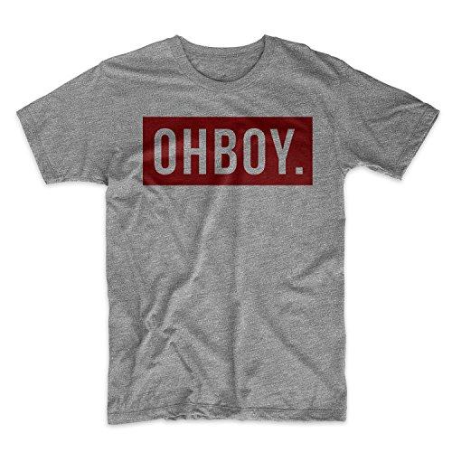 OHBOY Herren T-Shirt Grau