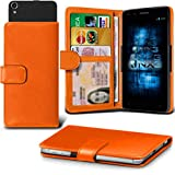 (Orange) Aldi Medion Life E4503 Hülle Abdeckung Cover Case schutzhülle Tasche Verstellbarer Feder Mappe Identifikation-Karten