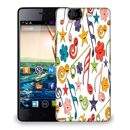 Snoogg Smiley Strings Designer Protective Phone Back Case Cover For Micromax Canvas Knight A350  available at amazon for Rs.299