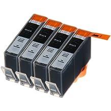 4 Multipack de alta capacidad HP 920 Cartuchos Compatibles 4 negro para HP Officejet 6000, Officejet 6500 AIO WL E710N, Officejet 6500 Wireless, Officejet 7000 E809A, Officejet 7500 WF AIO E910A, Officejet 6500 AIOS, Officejet 7000 Wide Format. Cartucho de tinta . CD975AE © 123 Cartucho