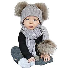 ZARU Pompon Lindo bebé de Invierno para niños Muchachos de Las niñas  calientan Gorros ... 21e3571bc83