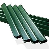24 Stück PVC - Sichtschutzstreifen Klemmschienen – moosgrün