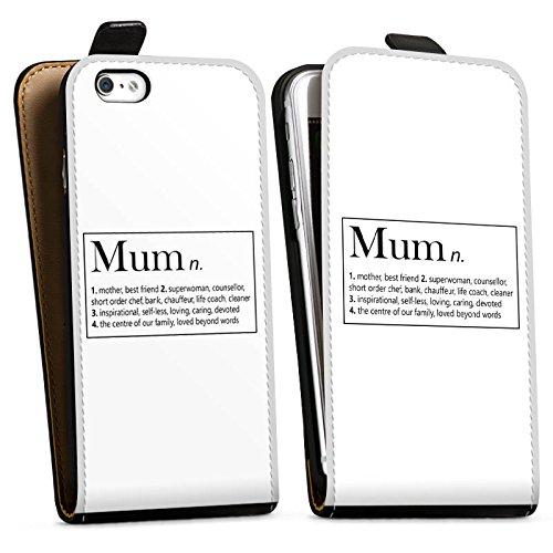 Apple iPhone X Silikon Hülle Case Schutzhülle Mum Mama Muttertag Downflip Tasche schwarz