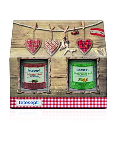 tetesept Badeset Meersalze Set Österreich Edition, 1er Pack (1 x 360 g)