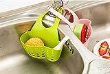 RIANZ Kitchen Hanging Drainage Bag Shopping Cart Sink Soap Dish Holder Hanging Storage Basket Sponge Holder (Color May Vary)