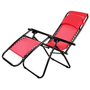 Ancheer Zero Gravity Lounge Chair - Red