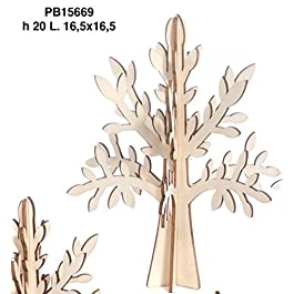 6 PEZZI Albero della vita in legno NATURALE componibile da 20 cm BOMBONI