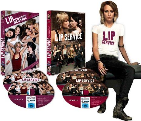 P Set 3: LIP SERVICE - Die komplette 1. + 2. Staffel (4DVD) + original LIP SERVICE Tanktop ()