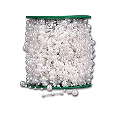 60m/roll 8+3mm ABS Fishing Line Artificial Pearls Beads Chain Garland Flowers DIY Wedding Party Decoration Products Supply from EQLEF®