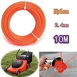 mark8shop 2,4mm x 10m Flexible Nylon Gras Trimmer Line Seil für 23–35cc Benzin Rasentrimmer