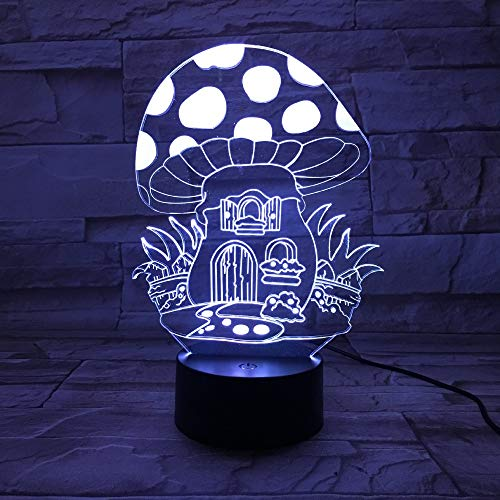 Diligent 3d Led Night Light Colorful Touch Lamp Birthday Party Supplies Day Gift Wedding Decoration Home Decoration Accessories Halloween Party Diy Decorations