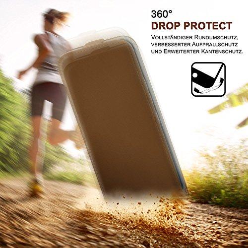 ARTLU® Pochette pour iPhone 5 / 5S / SE housse Cover avec fentes pour cartes   Flip Case étui housse téléphone portable à rabat   Pochette téléphone portable étui de protection accessoires téléphone p A6
