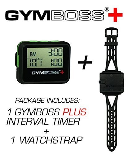Gymboss Plus Intervall Timer und Stoppuhr Uhrenarmband - Bundle