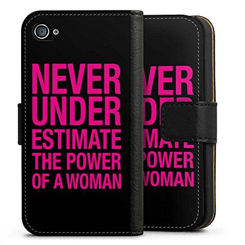Apple iPhone X Silikon Hülle Case Schutzhülle Power Women Frauen Workout Sideflip Tasche schwarz