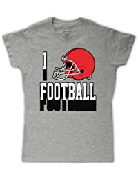 I Love Football casco de fútbol americano para mujer T-Shirt