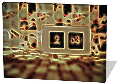 Vintage Uhr, Light Effect, schönes und hochwertiges Leinwandbild zum Aufhängen in XXL - 120cm x 80cm, echter Holzrahmen, effektiver Pigmentdruck, modernes Design für Ihr Büro oder (Holz Männliche Kostüm Elf)