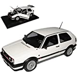 VW Volkswagen Golf II GTI G60 Weiss 1983-1992 1/18 Norev Modell Auto mit oder ohne individiuellem Wunschkennzeichen