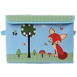 UberLyfe Kids Toy Storage Box cum Organizer - Witty Red Fox (KSB-1083-1PC)