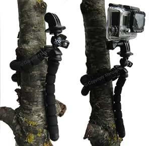 XSories deluxe Trépied fléxible noir pour caméra Gopro + Tripod adapter Gopro