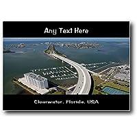 Clearwater, Florida, usa personalizzato Jumbo magnete