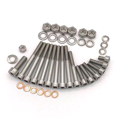 MZ ETZ 150 Motor Zylinderschrauben mit Innensechskant aus Edelstahl, 39 teilig