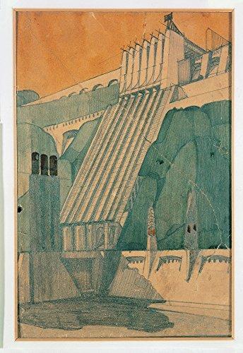 Sant'Elia Antonio Design For A Building 1914 20Th Century Pencil Ink And Watercolour On Paper Italy Private Collection (454546) Everett CollectionMondadori Portfolio Poster Print (24 x 36)
