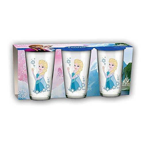 Unbekannt 'Beta Service el50867la Reine des Neiges Frozen ELSA Verres, Lot de 3, verre, multicolore, 15x 25x 12cm