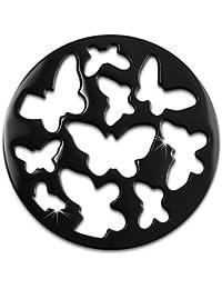 Amello Acero Inoxidable Coin mariposa ennegrecido coinsfassung Acero joyas esc503s