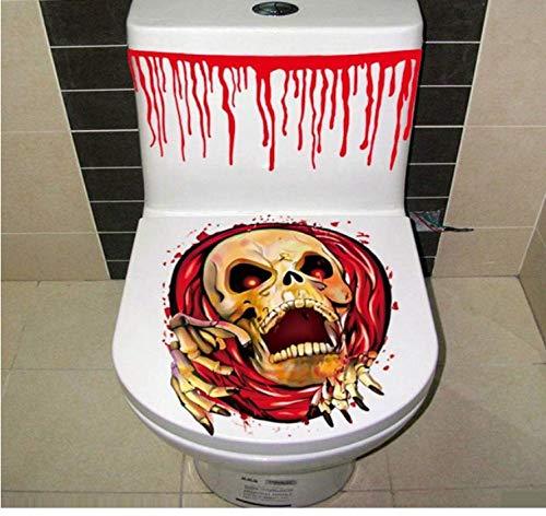 HHZDH Wandaufkleber Halloween blutige Hand Toilette Abdeckung Party Dekoration Aufkleber Prop beängstigend Zombie Home Decoration Zubehör