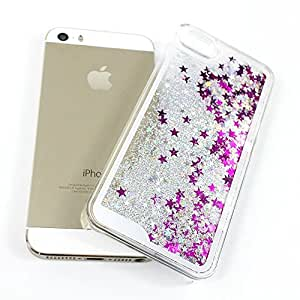 mobbysolTM Apple iphone 5/5S/SE Liquid 3D Bling Glitter Star Cover Flowing Liquid With Glitter Star, Bling Hard Case Back Cover for Apple iphone 5/5S/SE ,Silver