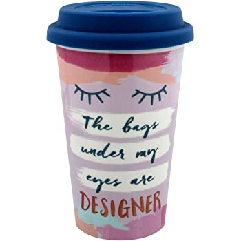 b2dda7f5688 Bags Under My Eyes Coffee Ceramic Travel Mug Thermal Gift Drink Tea Cup For  Her