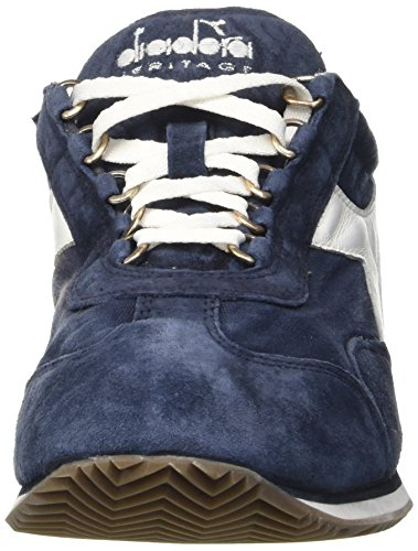 Diadora Equipe Stone Wash 12, Chaussures Basses Mixte Adulte Blu (Classic Navy)