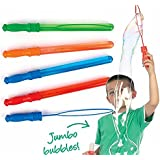 "Jumbo Bubbles 4 Set Of 14"" Bubble Wand Orange-Blue-Greeen-Red 5oz Stick Fun 6 Pack Of 4 Oz Colorful Lot Of 24 Oz Liquid Bubbles/Bubble Gun Refill"